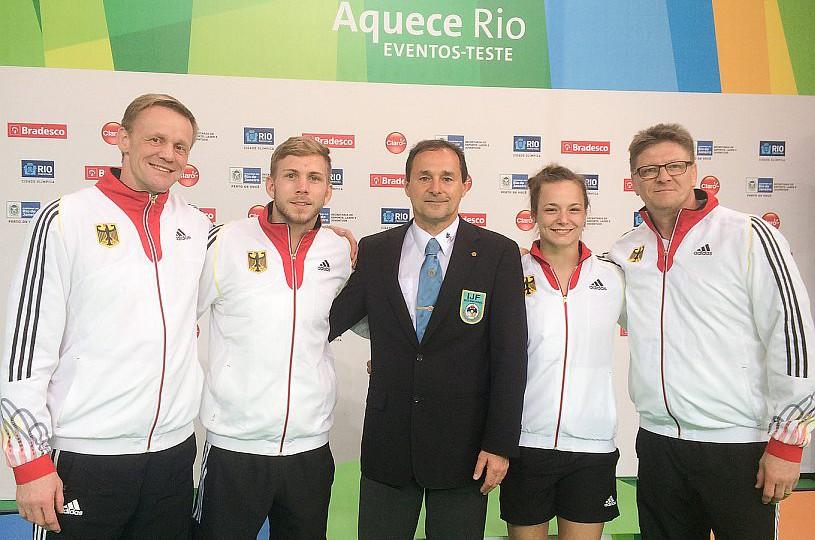 Judoka beim Testwettkampf in Rio