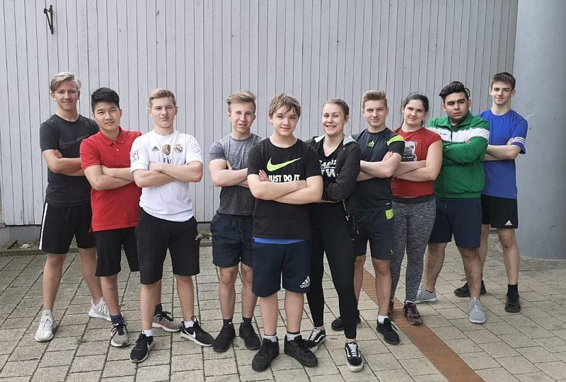 Junge Gewichtheber in Hannover