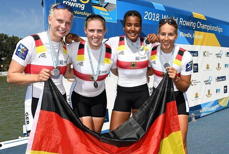 Frauen-Doppelvierer  wird Vize-Weltmeister