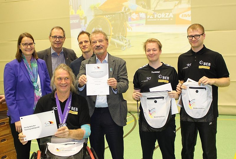 Empfang EM-Teilnehmer und Anerkennung des PTS Para Badminton