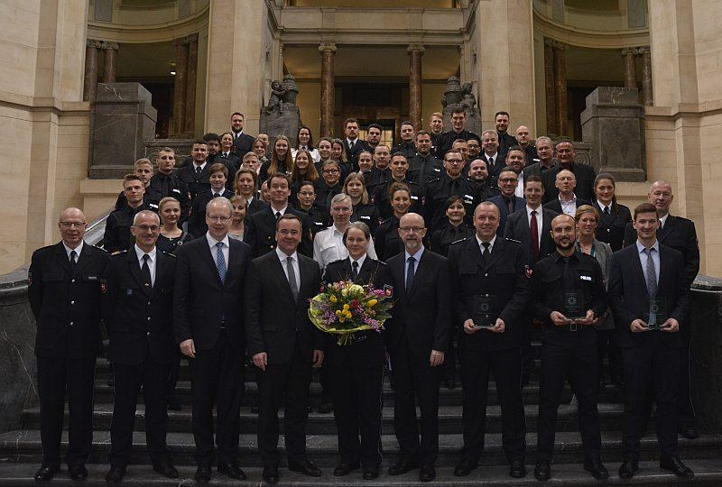 Auszeichnung für Sportlerinnen und Sportler der Polizei